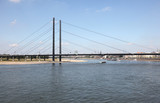 Bridge over the Rhine river in Dusseldorf, Germany