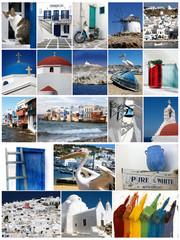 Mykonos collage,Greece