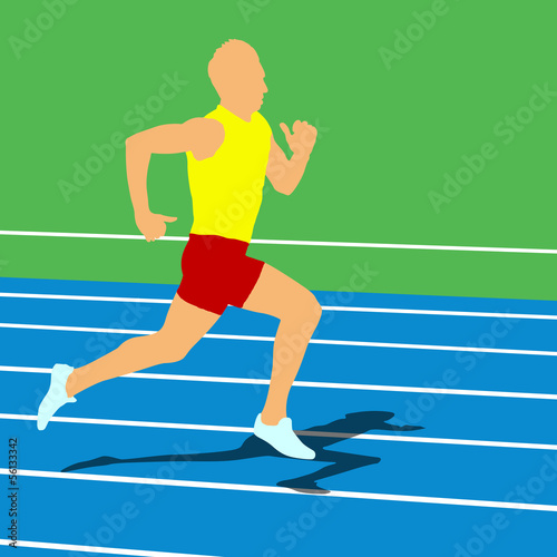 Running silhouettes. Vector illustration.