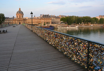 Thousands of Love Locks on the Pont Des Arts Bridge.