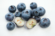 Macro food: blueberries, studio shot