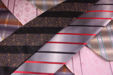 Multicoloured neckties