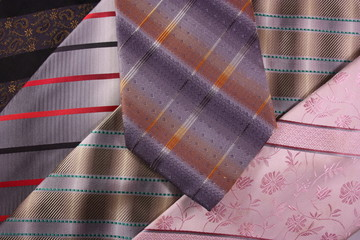 Multicoloured neckties