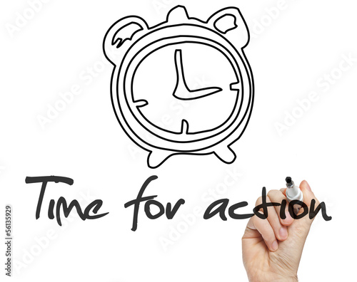 Time for action concept handwritten