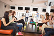 Friends Applauding For People Bowling