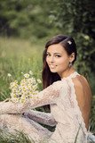 Beautiful bride outdoors