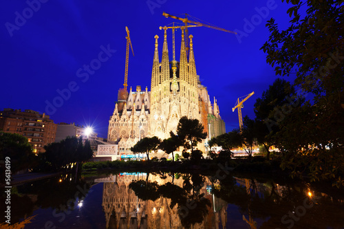 Sagrada Familia in Barcelona, Catalonia