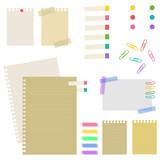 paper / sticky / clip / pin