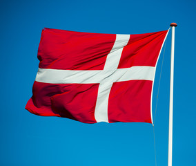 National flag Dannebrog of Denmark