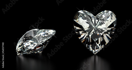 Leinwandbild Motiv Heart Cut Diamond