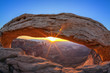 sunrise at famous Mesa Arch