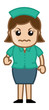 Very Angry Nurse - Medical Cartoon Vector Character
