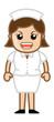 Aggressive Nurse - Medical Cartoon Vector Character