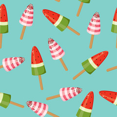 Seamless bright ice cream wallpaper