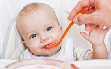 cute eating baby boy