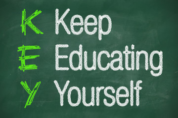 Keep education yourself