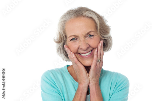 Portrait of a happy senior citizen