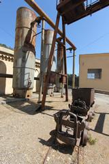 Il carrello della miniera di Montevecchio in Sardegna