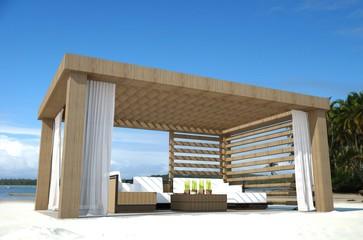 Pavillon am Strand