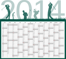 Golf Kalender 2014