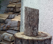 Timber prepared for fuel in winter months