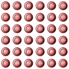 Collection of round buttons