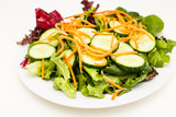 Salad of Cucumber and Carrots on Field Greens
