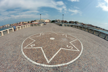 Compass rose in Ostia, Italy