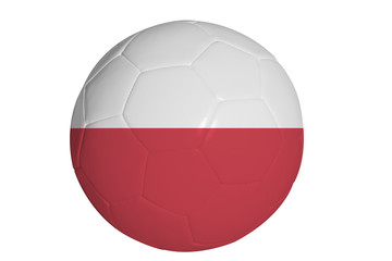 Polish flag graphic on soccer ball
