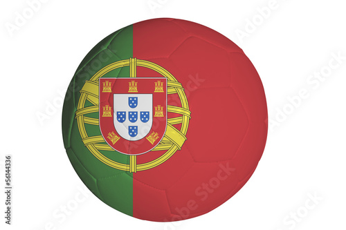 Portugese flag graphic on soccer ball
