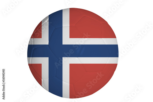 Norwegian flag graphic on soccer ball