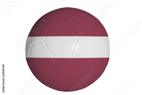 Latvian flag graphic on soccer ball