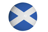 Scottish flag graphic on soccer ball