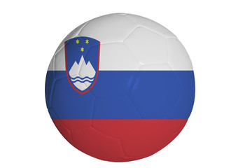 Slovenian flag graphic on soccer ball