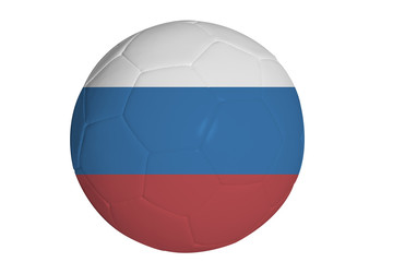 Russian Federation flag graphic on soccer ball