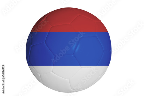 Serbian flag graphic on soccer ball