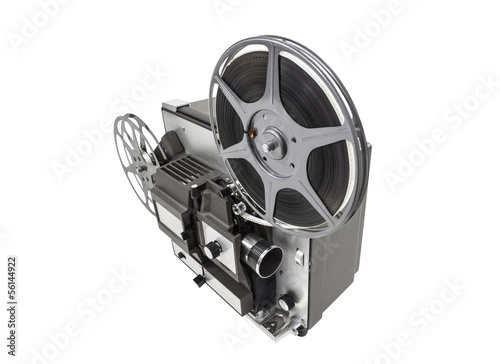Retro Movie Projector Isolated
