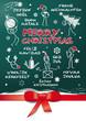 merry christmas mehrsprachig, Tafel, grün