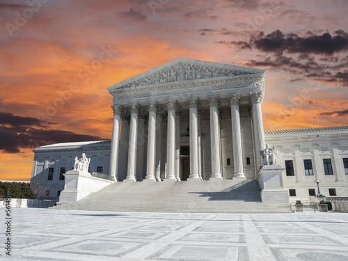 US Supreme Court Sunset Washington DC
