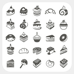 Cakes and dessert set