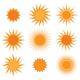 vector collection: sun icons