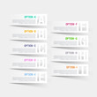 Abstract infographics letter options template