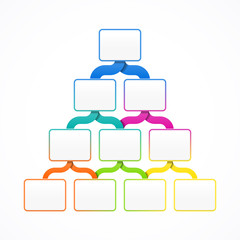 Pyramid hierarchy infographics design template