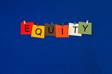 Equity - Business and Finance sign