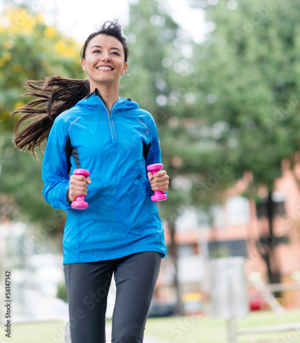 Female runner outdoors