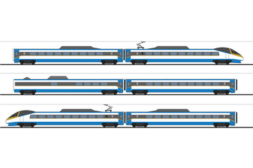 Pendolino high-speed train vector graphic