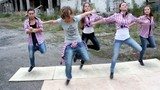 young beautiful girls dance tap