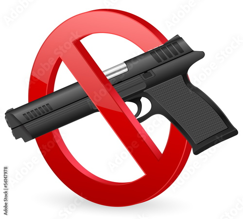 no pistol sign
