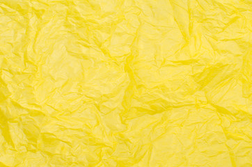 Yellow tissue paper
