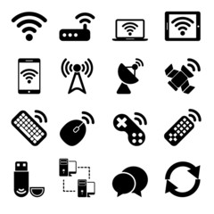 Wireless Devices Icons Set